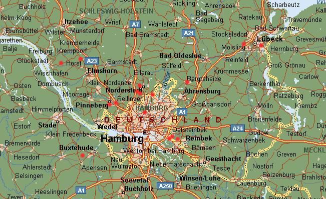 hamburg und umgebung karte Hamburg Und Umgebung Landkarte | Deutschland Karte hamburg und umgebung karte
